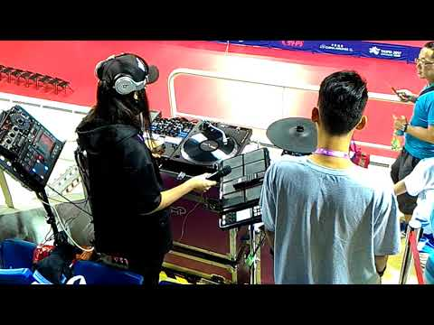 20170829 世大運桌球(Taipei Summer Universiade-table tennis) DJ J.C.&DJ H.(DJ表演)in 新莊gym 12