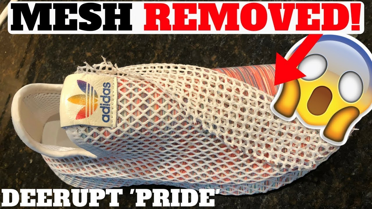96153664a90e MESH NET REMOVAL! Adidas DEERUPT  PRIDE  - YouTube