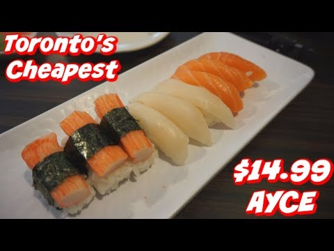 Toronto's Cheapest AYCE Sushi (All You Can Eat) Review & Mukbang - Kyoto House Japanese