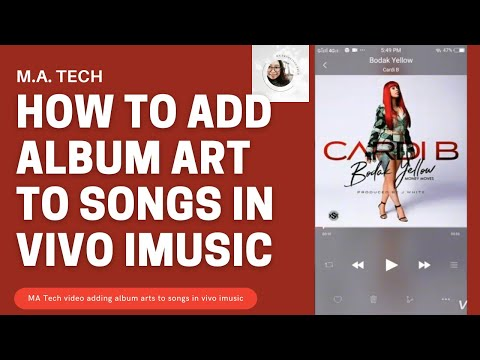 How to add ALBUM ART to songs in Vivo iMusic