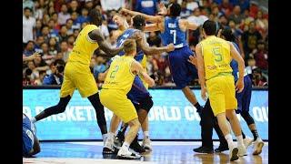 Gilas Pilipinas vs. Australia 3rd quarter fight in FIBA World Cup 2019 Asian Qualifiers