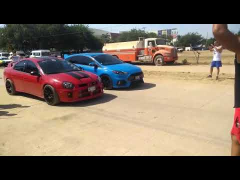 BB SRT4 big turbo vs Focus RS 1er jale otra toma