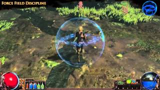 Path of Exile - Force Field Discipline Aura Effect