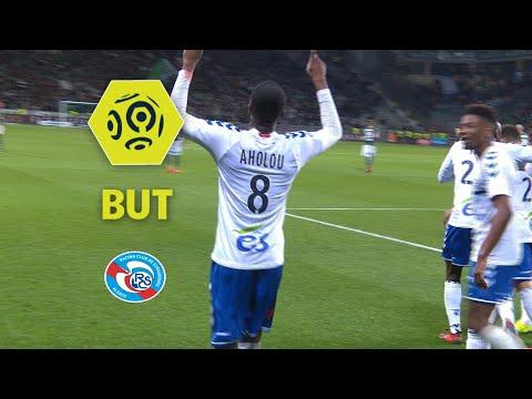 But Jean Eudes AHOLOU (45') / AS Saint-Etienne - RC Strasbourg Alsace (2-2)  / 2017-18
