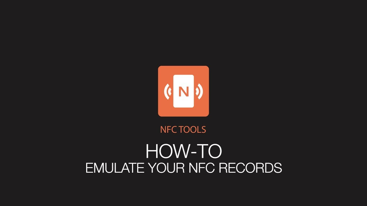 NFC Tools : How to emulate your NFC tags