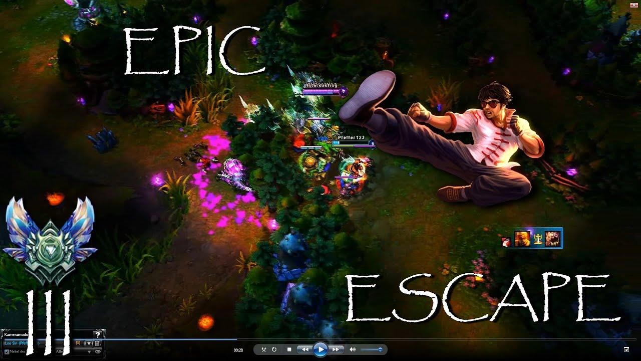 2 3k Elo Diamond Lee Sin jukes Epic escape Full HD