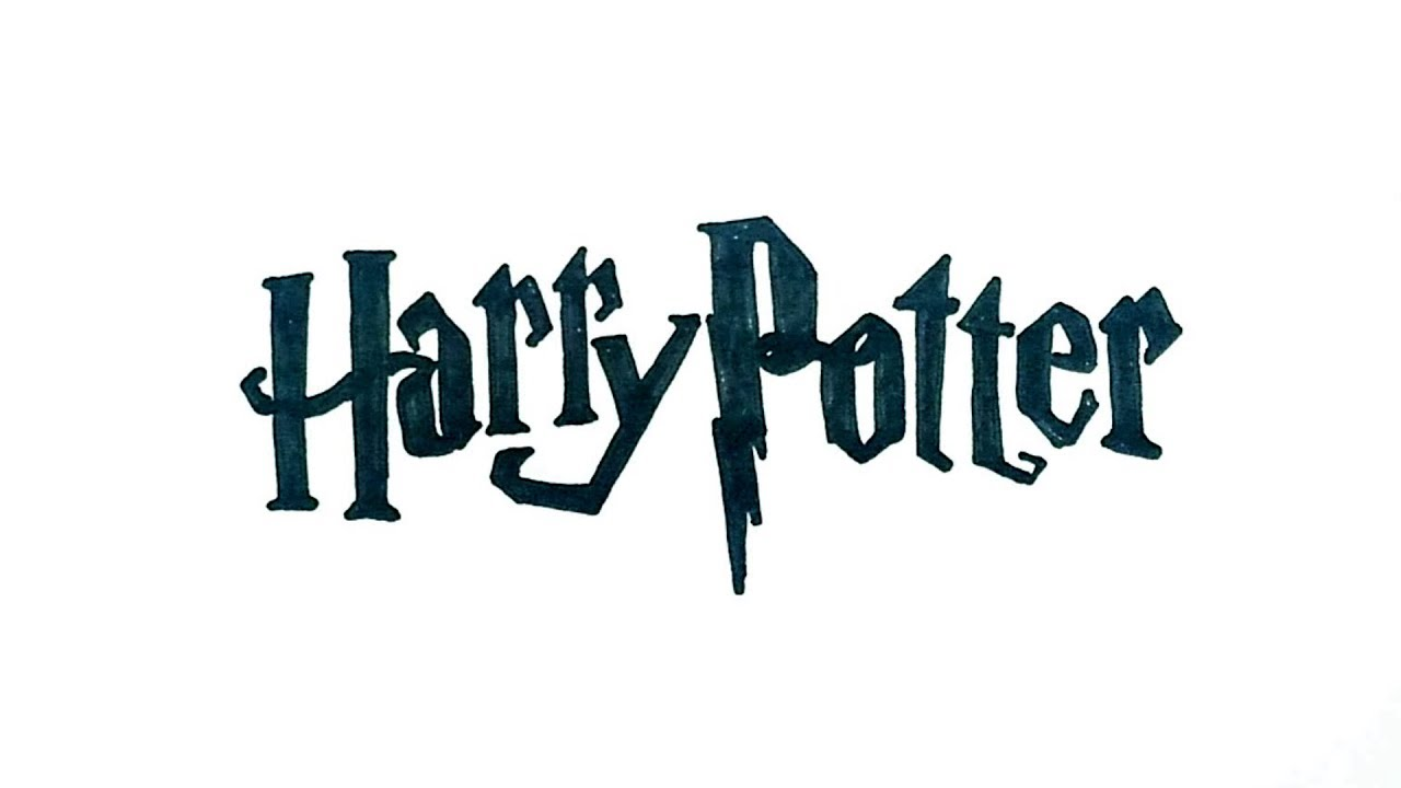 How To Draw The Harry Potter Logo - YouTube