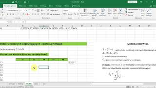 [eTrapez] Metoda Hellwiga w Excelu (szybki sposób dla wielu zmiennych)