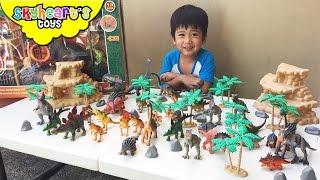 Prehistoric Dinosaur toys for kids - Jurassic World and Animal Planet Park T-Rex Tower Mega Playset