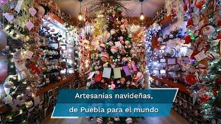 De la mano de 62 artesanos, Zully Olvera ha llevado las tradicionales esferas de Chignahuapan, Puebla a diferentes partes del país y del mundo