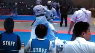 Альберт Меликян (Днепр) на Чемпионате Мира-2018 среди юниоров по киокушин каратэ.Япония.Токио.