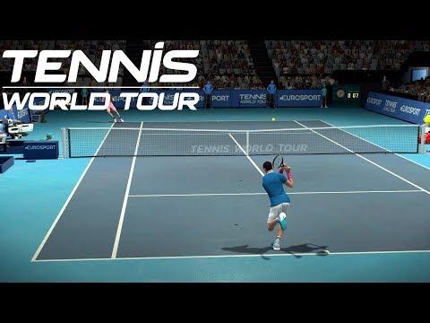Tennis World Tour - Milos Raonic vs Kyle Edmund - PS4 Gameplay