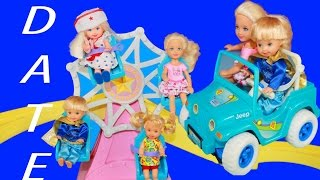 Frozen Anna Kids Toby DATE Barbie Chelsea Barbie Kelly Amusement Park Kiddie Coaster BROKEN Disney