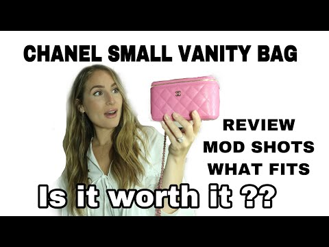CHANEL SMALL VANITY ON CHAIN 20S PINK / Review WIMB + Mod Shots!