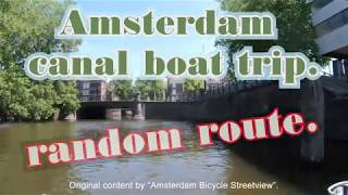 Amsterdam by boat. Random canal route. beautiful day through the canals. June 2020.