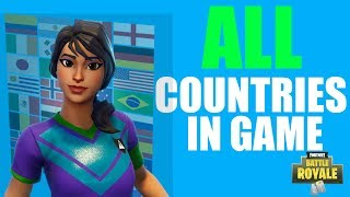 All Clinical Cross Countries Skins In Game! (With Matching Pickaxe) - Fortnite