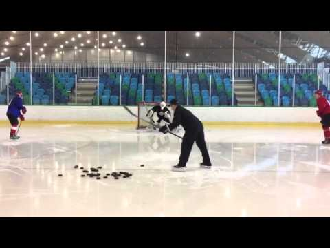 NHL GOALTENDER DOUBLE DISTRIBUTION DRILL by Pasco Valana Elite Goalies Inc