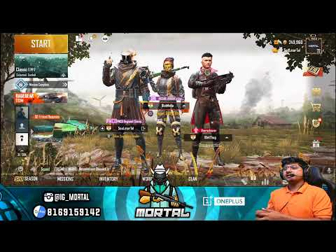 Afternoon Chill Stream #s8uL || PUBG MOBILE LIVE || OnePlus