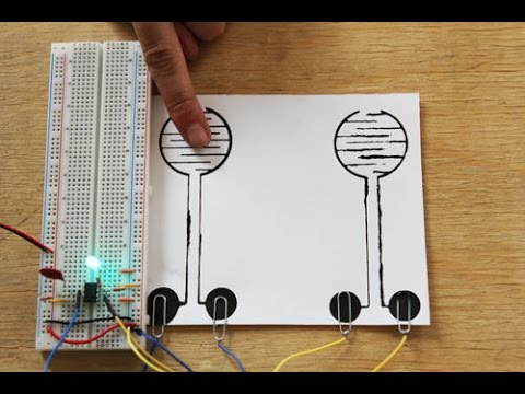 Simple LED Touch Switch Circuit using IC 555 Timer - YouTube