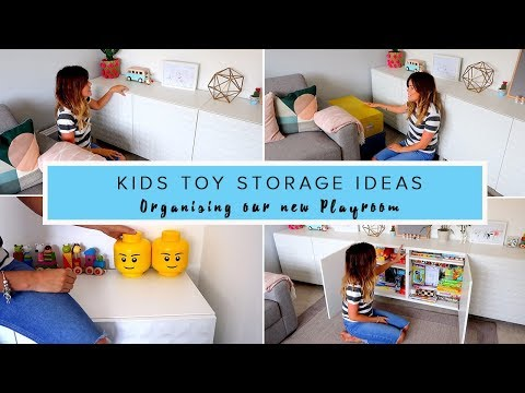 KIDS TOY STORAGE IDEAS- ORGANISING OUR NEW PLAY ROOM