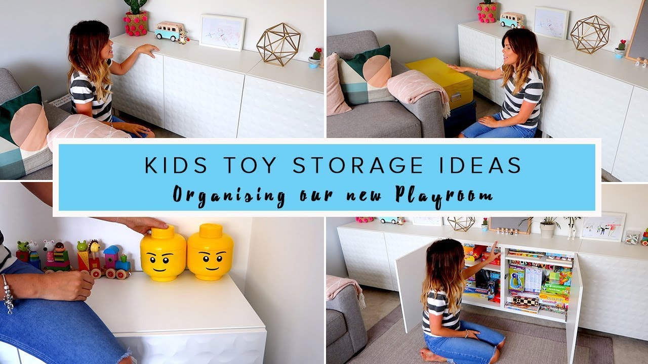 Toy Storage In Living Room Ideas Cream And Brown Curtains Kids Organising Our New Play Youtube