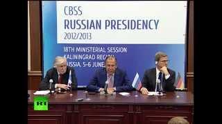 Пресс-конференция министров иностранных дел России, Германии и Финляндии