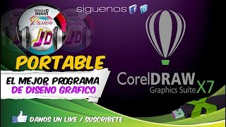 Corel Draw X7 portable / 100% / windows xp, 7 y 8
