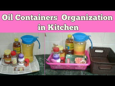 How To Organise Oil Containers DIY Indian Kitchen Organization Ideas    Sanau0027s Rasoi