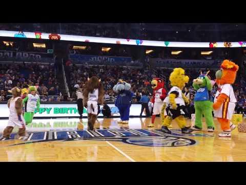 Orlando Magic's Mascot Birthday Dance Off 2014