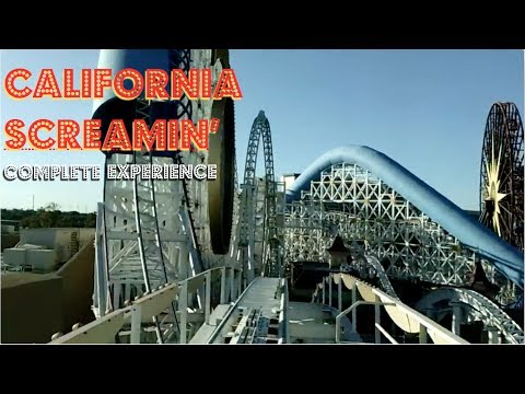 California Screamin' Roller Coaster on-ride POV (Disney California Adventure)