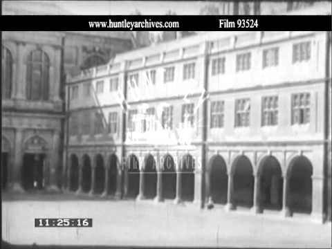Wartime Cambridge University.  Archive film 93524