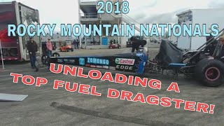 Dark Side Racing Unloading The Dragster-2018 Rocky Mountain Nationals- July 14,2018
