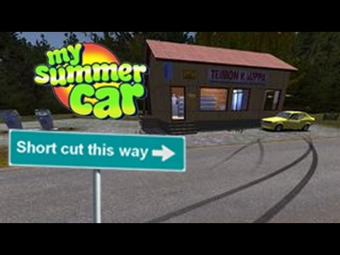 How To Get To The Shops (Shorcut) | My Summer Car