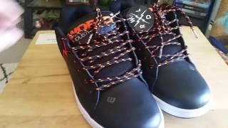 New World Industries Orange & Black Shoes