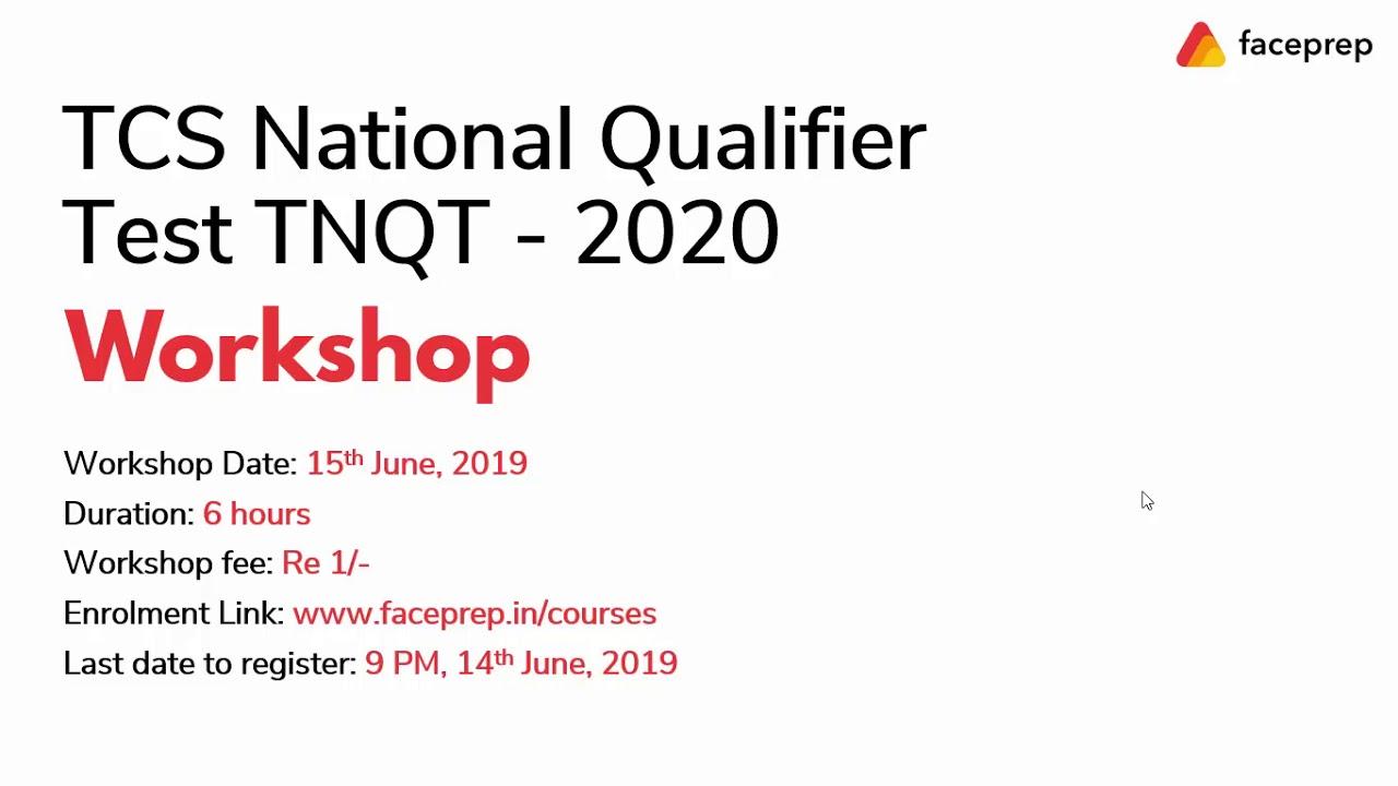 TCS NQT 2020 Questions | TCS NQT Workshop on Previous Year TCS NQT Questions