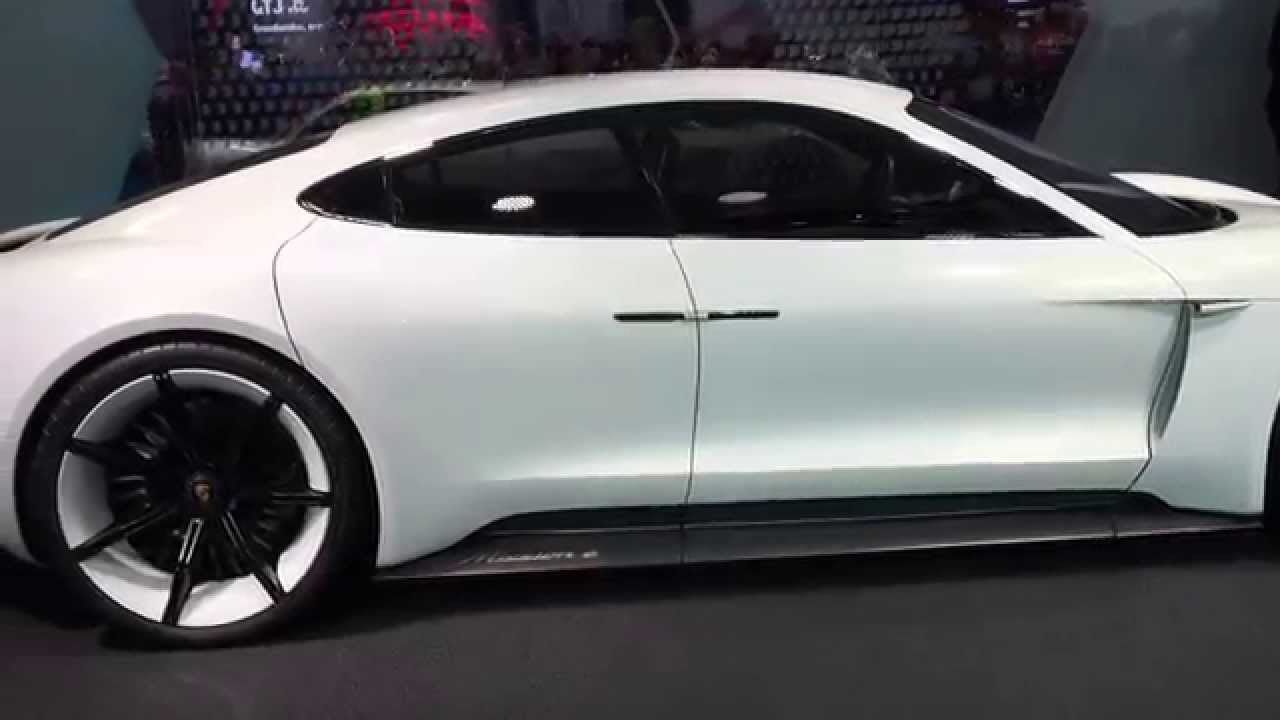 porsche concept e all electric sports car with suicide doors at frankfurt motor show youtube. Black Bedroom Furniture Sets. Home Design Ideas
