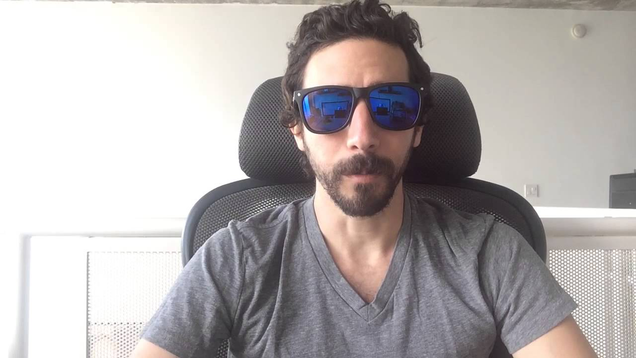 Free Matte Black with Blue Revo Mirror Sunglasses - YouTube f09e9e38458