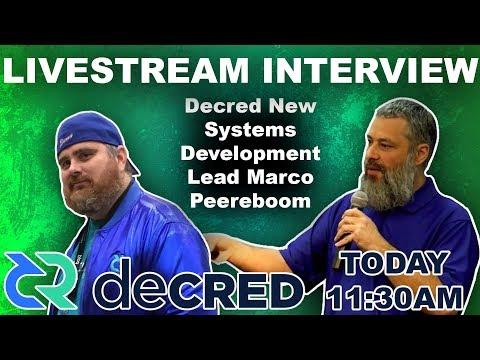 Decred New Systems Development Lead Marco Peereboom| BitBoy Crypto Livestream