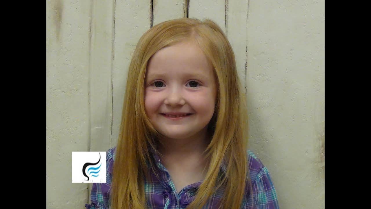Little Girls (Medium Length) Hairstyles - YouTube