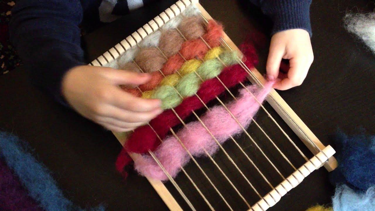 Préférence Tisser la laine cardée - YouTube CL58
