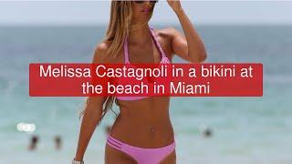 Melissa Castagnoli in a bikini at the beach in Miami