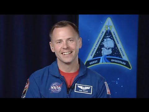 Astronaut Nick Hague speaking about the Soyuz MS-10 launch