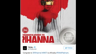 Twitter Users Accuse Rihanna Of Fraud After Her 'ANTI Album' Goes Platinum In 15hrs