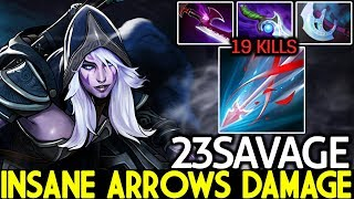 23SAVAGE [Drow Ranger] Insane Arrows Damage Destroyed Abed Mid 7.22 Dota 2