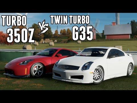 Battle of the VQ's! - Turbo 350z vs Twin Turbo G35 (Forza 7)