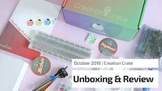Creation Crate Subscription Box Unboxing October 2018