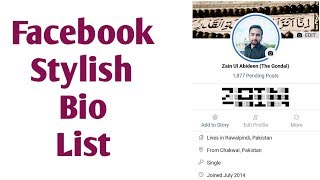 How To Add Facebook Anonymous Bio 2019