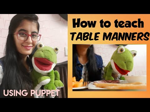 Table manners for kids | Teaching table manners | Good eating habits
