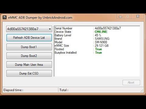 WN - dump any android emmc raw binary using adb interface