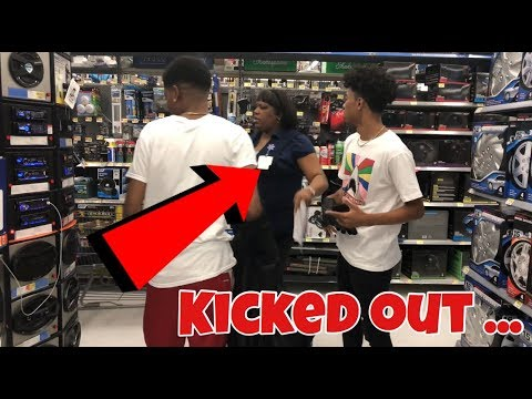 BLASTING RICK ROSS MUSIC IN WALMART!!! (KICKED OUT)